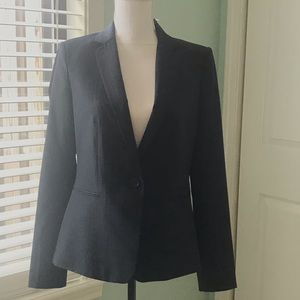Ann Taylor Navy Blue Pinstriped Blazer